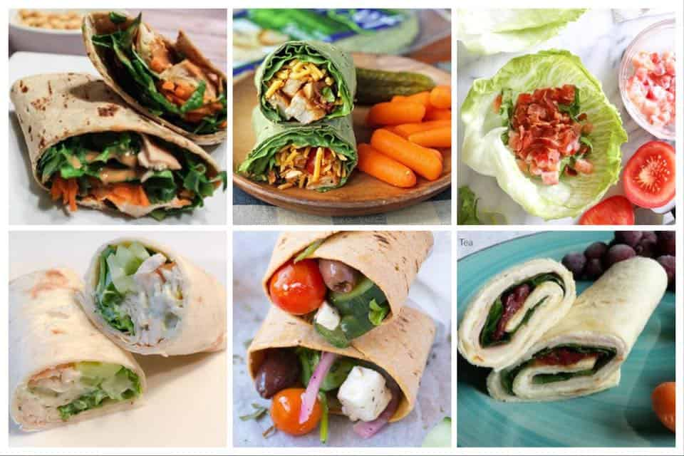10 Wrap Sandwiches for Weight Watchers